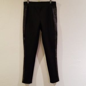 Black stretchy pants w/ faux snake skin accents